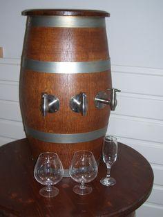 1560 - Spillatore a colonna per vino e birra da botte rustica in legno di rovere (rubinetto optionale)  #Botti #Briganti #Bottibriganti