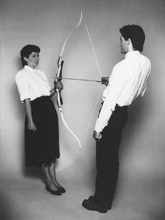 Marina Abramović and Ulay, Rest Energy with Ulay, 1980. Color 16mm film transferred to DVD, 4 min 5 sec. Courtesy the Artist and Lisson Gallery.