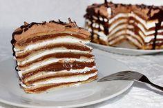Mascarponés-mogyorókrémes palacsintatorta Hungarian Desserts, Hungarian Recipes, Hungarian Food, Cookie Recipes, Dessert Recipes, Just Eat It, Sweet Cookies, Dessert Decoration, Food Humor