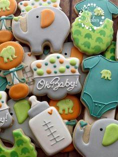 Love the color palette Fancy Cookies, Cute Cookies, Easter Cookies, Summer Cookies, Heart Cookies, Valentine Cookies, Birthday Cookies, Christmas Cookies, Baby Shower Sweets