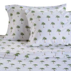 Panama Jack Home Palm Tree 300 Thread Count Cotton Sheet Set: http://www.completely-coastal.com/2016/08/coastal-sheets-nautical-sheet-sets-cotton.html