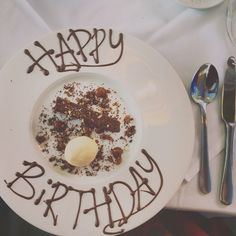 Our Head Chef made this chocolaty treat for a guest celebrating her birthday with us at the Flying Fish Restaurant, Falmouth, Cornwall.