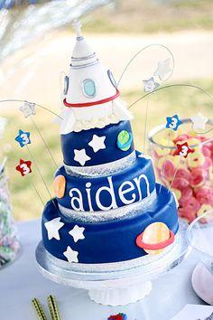 NASA Space Birthday Cake