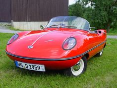 Allard Clipper, Britain's (and possibly Europe's) first fiberglass car, that was designed in Australia.  v@e.