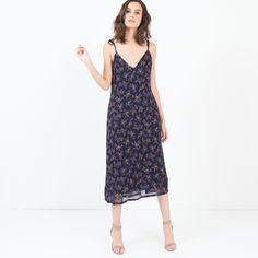 Mady Floral Slip Dress (Navy)