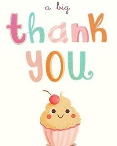 'A Big Thank You' - Birthday thank you card template you can print or send online as eCard for free. Personalize with your own message, photos and stickers. Cartoon Birthday Cake, Cartoon Cupcakes, Pink Birthday Cakes, Birthday Weekend, Birthday Love, It's Your Birthday, Birthday Wishes, Printable Thank You Cards, Free Thank You Cards