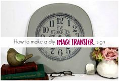 Learn the fast and easy way to transfer images to furniture. Transfer images to wood DIY projects, or gorgeous image transfers to your painted furniture. Add graphics to your project