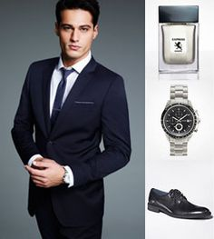 A versatile navy suit will give you a designer look that doesn't break the bank. Make your mark on Fashion Week in a classic watch, shined-up shoes and a signature scent.