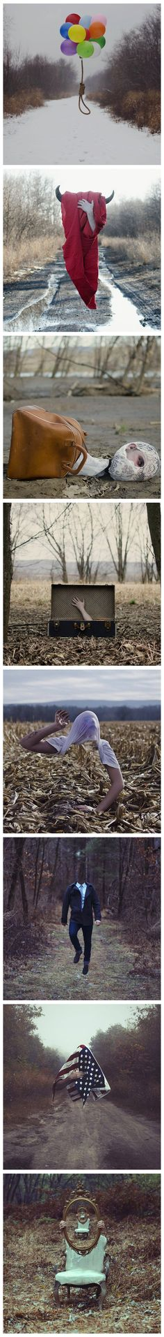 CHRISTOPHER McKENNEY came across him on Facebook and looked even more into his work its creepy but interesting