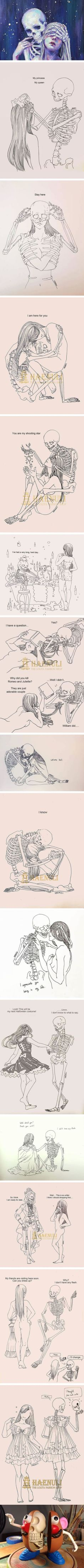 Death-Inspired Love Comics That Artist Haenuli Created To Cope With Her Depression