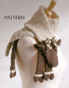 Reindeer Scarf - want to learn to knit just to make this