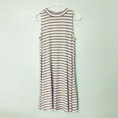 new large mock neck stripe tank top dress New large dress.  *length :33.5 **not freepeople brand, only Free People Dresses Mini