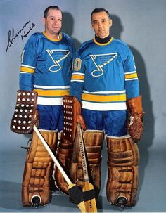 Glenn Hall and Jacques Plante | St. Louis Blues | NHL | Hockey