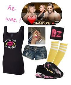 """""""Night Of Champions ~ Dolph Ziggler vs Russev w/ Lana ( he won !  )"""" by swaggwweforever ❤ liked on Polyvore featuring Almost Famous, WWE, dolphziggler, summerrae and rusev"""