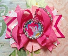 Pinkie Pie Bow/MLP Bow/My Little Pony Pinkie Pie Girls Hair Bow/Pinkie Pie Girls Hair Bow/MLP Pinkie Pie Hair Bow/Girly Curl/Girls Hair Bow by GirlyCurlBowtique on Etsy https://www.etsy.com/listing/266497422/pinkie-pie-bowmlp-bowmy-little-pony