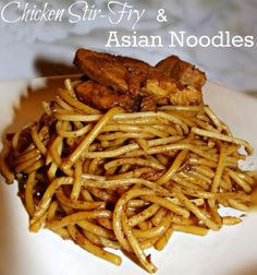 Chicken Stir Fry with Asian Noodles