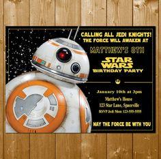 BB8 Invitation Star Wars Invitation Star by KidsPartySuppliesPL