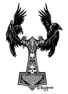 12+ Amazing Norse Raven Tattoo Designs