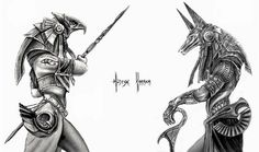 Anyone else love the Egyptian gods? - horus anubis ra isis osiris set khnum thoth hathor sobek ptah amon egyptian gods