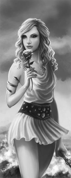 """""""I showed this to my guy friend and he asked if it was a picture of me. talk about a confidence booster. haha try a picture of Aphrodite"""" Another pinner said that. What I say is; Percy saw Annabeth in Aphrodite, and maybe this is just me, but I see it too in this drawing.  (I thought what the other pinner said was befitting to this concept)"""