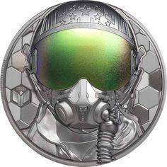 Kampfpilot 3 Unzen Feinsilber Hero Fighter, Fighter Pilot, Cook Islands, Top Gun Movie, Be Your Own Hero, Honeycomb Pattern, Proof Coins, Real Hero, Rare Coins