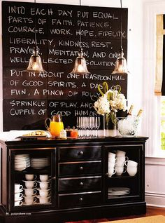 I think I have the perfect space for a ginormous chalkboard such as this