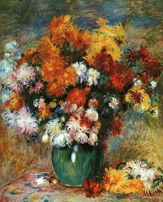 Pierre Auguste Renoir (1841-1919) Vase of Chrysanthemums Oil on canvas Private collection