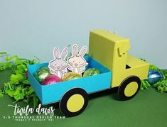 Stamp A Little Longer: 3D Thursday - A Truck Full Of Eggs - FREE downloadable instructions on my blog.
