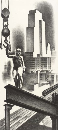 Louis Lozowick - Above the City (1932)