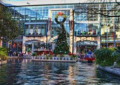 River Center Mall,San Antonio Texas...nestled in the center of the Riverwalk.  Huge place!  Tons of shopping and they are building on to it.
