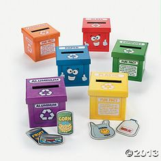 Learn To Recycle Activity Boxes (Oriental Trading)