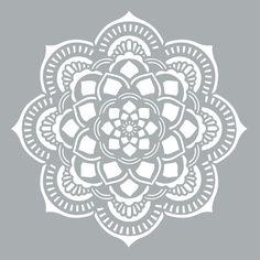 "Americana Decor Stencil 18 ""X 18""-Mandala ADS40-405-K   Fruugo"