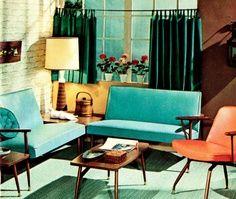 morio buatta interior design/images | Interior - 1950s Interior Design Illustration