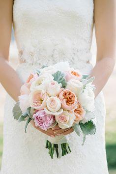 peony and lamb's ear bouquet | dear wesleyann | Glamour & Grace