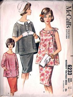 Vintage Costumes Over Vintage Sewing Patterns Are Now Available Online - The Vintage Patterns Wiki boasts over vintage sewing patterns from the to It's possible to browse by year or garment type. Vintage Dress Patterns, Clothing Patterns, Vintage Dresses, Vintage Outfits, Clothing Styles, Moda Vintage, Vintage Girls, Maternity Wear, Maternity Fashion