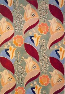 Duncan Grant textile - but wouldn't it make a great wallpaper, too?