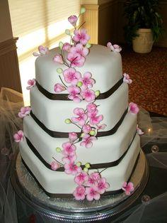 http://fashionpin1.blogspot.com - Cherry Blossoms Cake