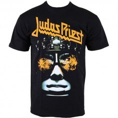Officially licensed merch from Judas Priest Hell Bent Puff Print T-Shirt available at Rockabilia Judas Priest, Greys Anatomy Memes, Metal Fashion, Metalhead, Concert Posters, Photo Colour, Mens Tops, T Shirt, Lynyrd Skynyrd
