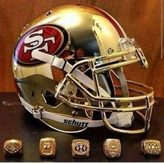 Oh ya baby, we are adding another ring this season♡♡♡♡ Nfl 49ers, 49ers Fans, Pro Football Teams, Football Helmets, Football Season, 49ers Memes, 49ers Pictures, Nfl Championships, Forty Niners