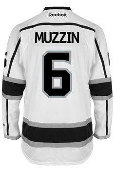 5597afb53b3 Los Angeles Kings Jake MUZZIN #6 Official Away Reebok Premier Replica Adult  NHL CoolHockey