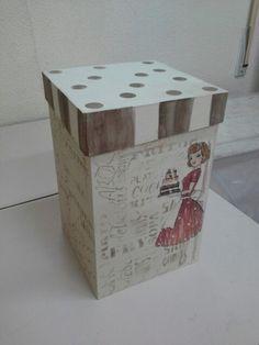 Caja  para cocina con transferencias y estarcido...hecho por Dulce.