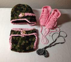 Crochet Army newborn through 12 mos hat by CrochetbyDestinee