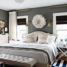 7 Wealthy Tips: Living Room Blinds No Sew bedroom blinds wooden.Bedroom Blinds How To Make bedroom blinds wooden. Gray Bedroom, Trendy Bedroom, Home Bedroom, Bedroom Wall, Bedroom Decor, Bedroom Sconces, Wall Beds, Bedrooms, Dark Master Bedroom