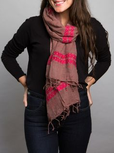 Rita Scarf by fashionABLE. Handmade in Ethiopia and its purchase helps create sustainable business in Africa.