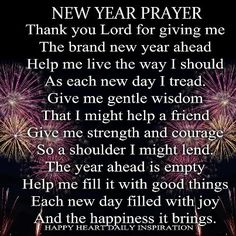 my new year prayer here is to a new year a better year