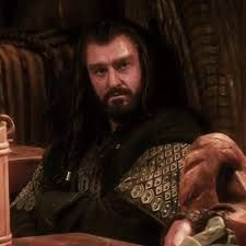 Image result for pictures of thorin at bilbos door