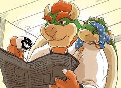 Attendance before - Bowser and Bowser Jr by Ye Wolf