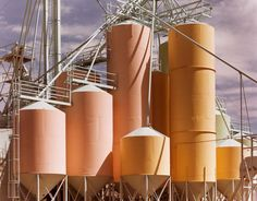 John Pfahl, Lovelock Seed Company, 1978 photo by John Pfahl, 1978 Factory Architecture, Colour Schemes, Planet Earth, Pretty Pictures, Fine Art Photography, Beautiful Images, Color Mixing, Photo Art, Landscape