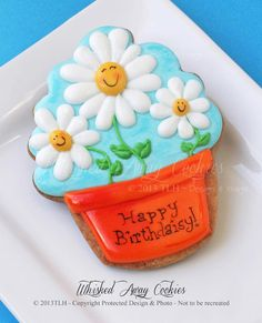 Daisies in Flower Pot (Cupcake Cookie Cutter)