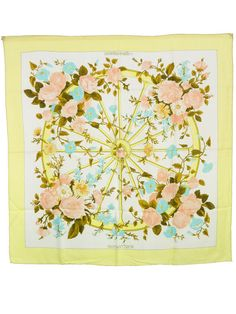 Hermes Scarf Shawl 100% Silk Carre 90 ROMANTIQUE AUTHENTIC #Hermes #Scarf